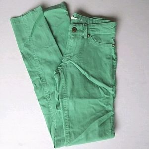 STRETCHY LIGHT GREEN PANTS SMALL